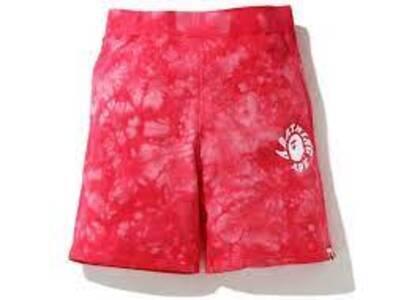 Bape Tie Dye Sweat short Red (SS20)の写真
