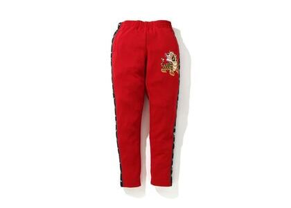 Bape Tiger Jersey Pants Red (SS20)の写真