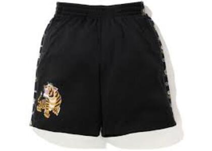Bape Tiger Jersey Wide short Black (SS20)の写真