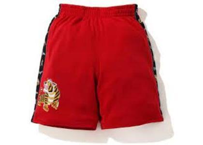 Bape Tiger Jersey Wide short Red (SS20)の写真