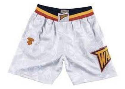 Aape x Mitchell & Ness Golden State Warriors short White (SS20)の写真