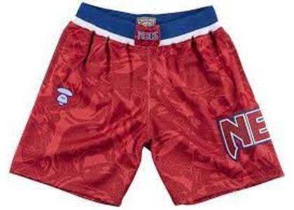 Aape x Mitchell & Ness New Jersey Nets short Red (SS20)の写真