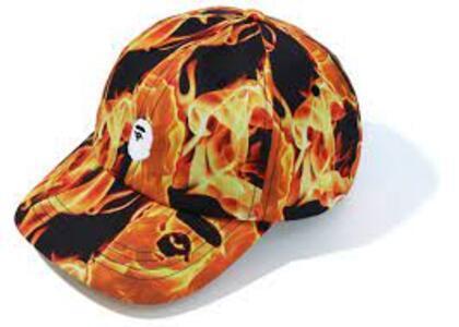 Bape Flame Panel Cap Orange (SS20)の写真