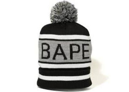 Bape Pom Pom Knit Cap Black (SS20)の写真