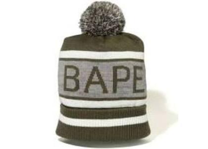 Bape Pom Pom Knit Cap Olive (SS20)の写真