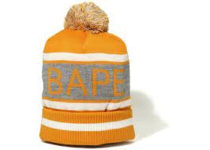 Bape Pom Pom Knit Cap Orange (SS20)の写真
