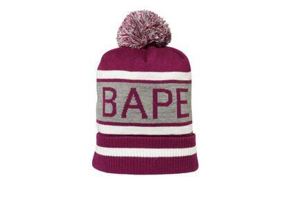 Bape Pom Pom Knit Cap Purple (SS20)の写真