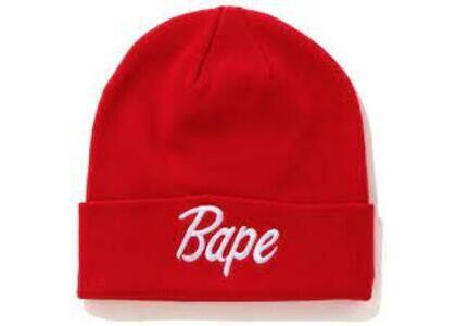 Bape Script Knit Beanie Red (SS20)の写真