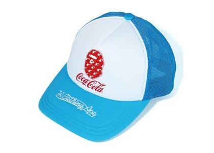 Bape x Coca Cola Mesh Cap Blue (SS20)の写真
