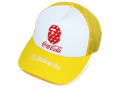 Bape x Coca Cola Mesh Cap Yellow (SS20)の写真