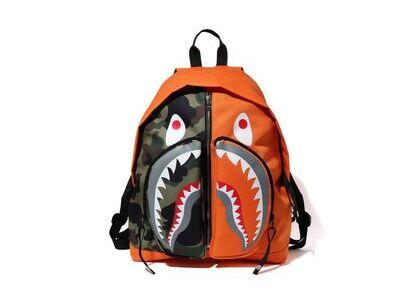 Bape 1st Camo Shark Day Pack Orange (SS20)の写真