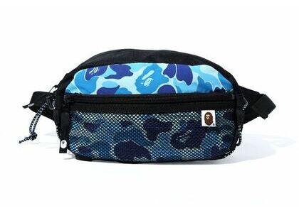 Bape ABC Camo Bungee Cord Waist Bag Blue (SS20)の写真