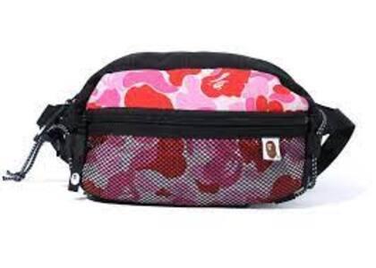 Bape ABC Camo Bungee Cord Waist Bag Pink (SS20)の写真