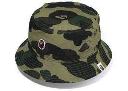 Bape 1st Camo Ape Head One Point Bucket Hat Green (SS20)の写真
