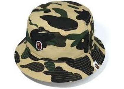 Bape 1st Camo Ape Head One Point Bucket Hat Yellow (SS20)の写真