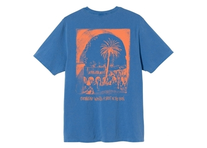 Stussy Spot In The Sun Dyed Tee Blue (SS21)の写真