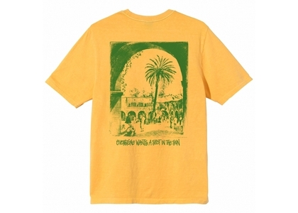 Stussy Spot In The Sun Dyed Tee Yellow (SS21)の写真