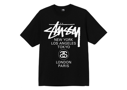 Stussy World Tour Tee Black (SS21)の写真