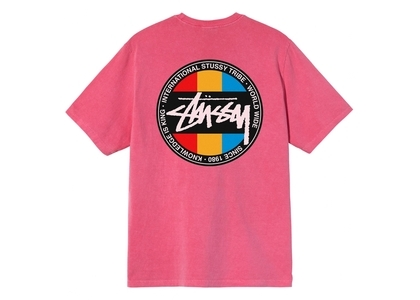 Stussy Classic Dot Dyed Tee Pink (SS21)の写真