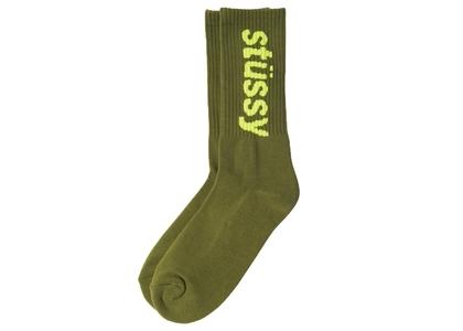 Stussy Helvetica Jacquard Crew Socks Green (SS21)の写真
