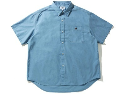 Bape One Point BD S/S Shirt Blue (SS21)の写真