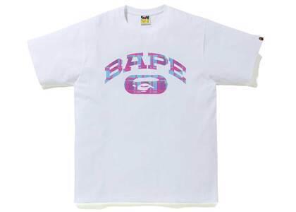 Bape Check College Logo Tee White/Purple (SS21)の写真