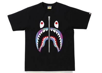 Bape Check Shark Tee Black/Purple (SS21)の写真