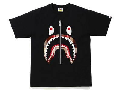 Bape Check Shark Tee Black/Yellow (SS21)の写真