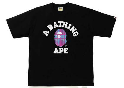 Bape Check College Rlxed Tee Black/Purple (SS21)の写真