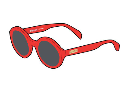 Supreme Downtown Sunglasses Red (SS21)の写真