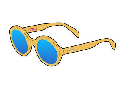 Supreme Downtown Sunglasses Yellow (SS21)の写真