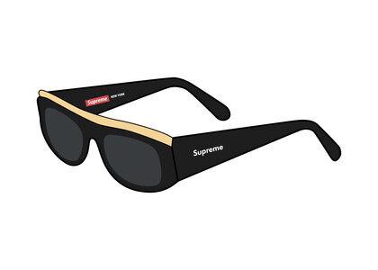 Supreme Goldtop Sunglasses Black (SS21)の写真