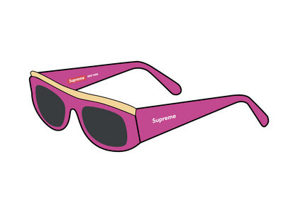 Supreme Goldtop Sunglasses Pink (SS21)の写真