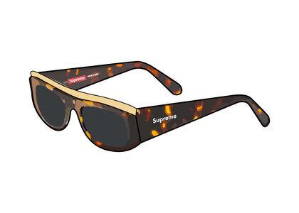 Supreme Goldtop Sunglasses Tortoise shell (SS21)の写真