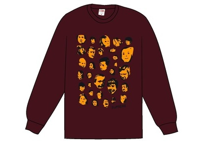 Supreme Faces L/S Tee Burgundyの写真