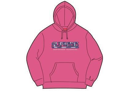 Supreme Denim Logo Hooded Sweatshirt Pink (SS21)の写真