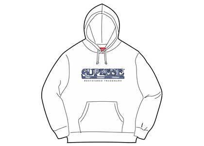 Supreme Denim Logo Hooded Sweatshirt White (SS21)の写真