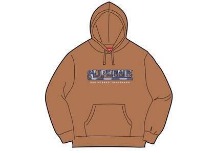 Supreme Denim Logo Hooded Sweatshirt Brown (SS21)の写真