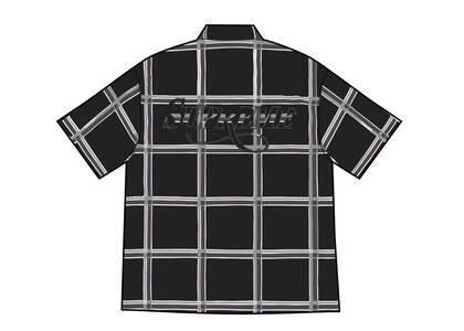 Supreme Lightweight Plaid S/S Shirt Black (SS21)の写真