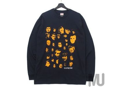 Supreme Faces L/S Tee Navyの写真