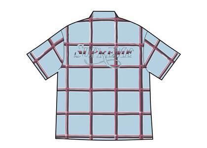 Supreme Lightweight Plaid S/S Shirt Light Blue (SS21)の写真