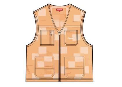 Supreme Patched Denim Vest Yellow (SS21)の写真