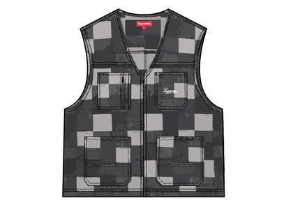 Supreme Patched Denim Vest Black (SS21)の写真