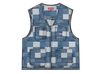 Supreme Patched Denim Vest Blue (SS21)の写真