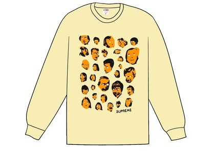 Supreme Faces L/S Tee Pale Yellowの写真