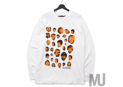 Supreme Faces L/S Tee Whiteの写真