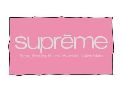 Supreme Five Boroughs Towel Pink (SS21)の写真