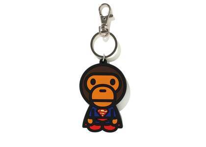 Bape × DC Baby Milo Superman Silicon Keychain Navy (SS21)の写真