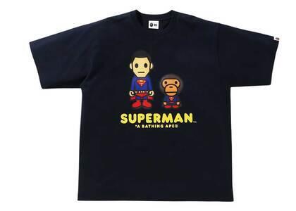 Bape × DC Baby Milo Superman Tee Navy (SS21)の写真