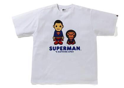 Bape × DC Baby Milo Superman Tee White (SS21)の写真